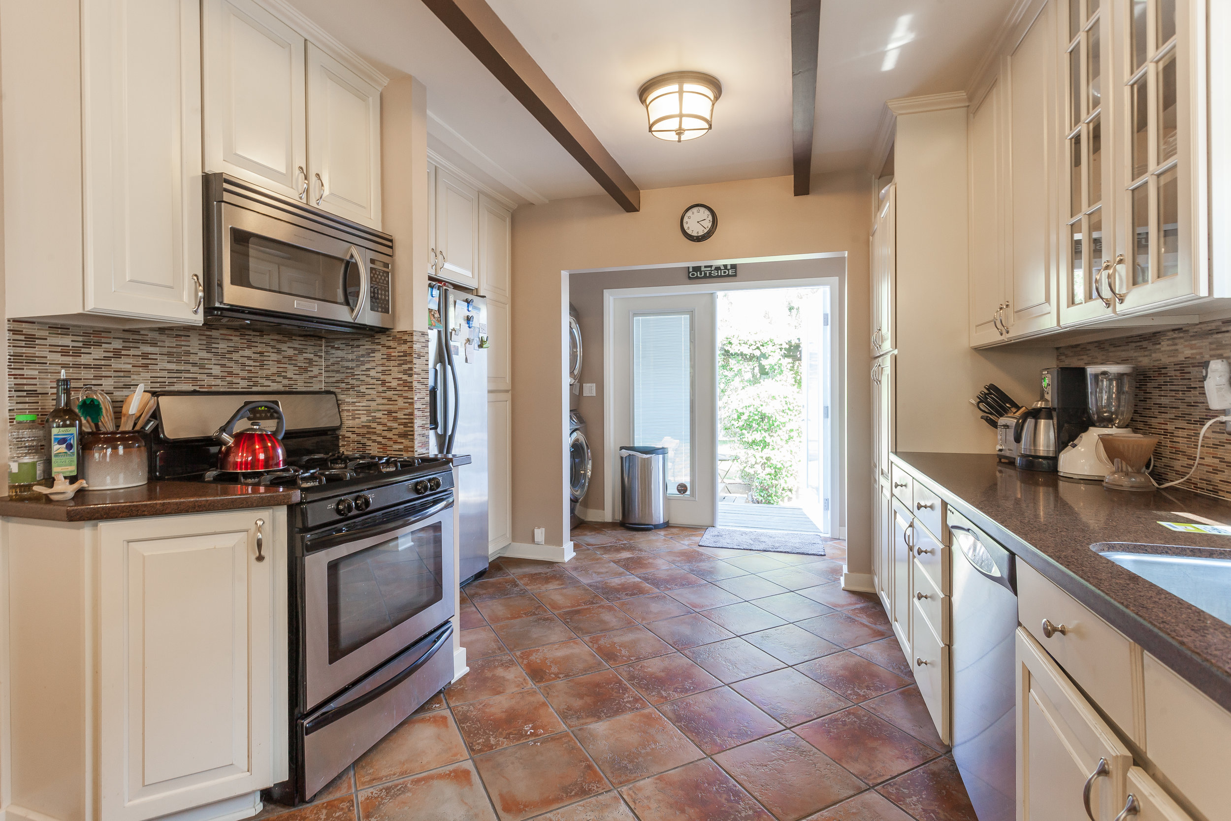 Image: Kitchen of our Culver City, LA, vacation home.