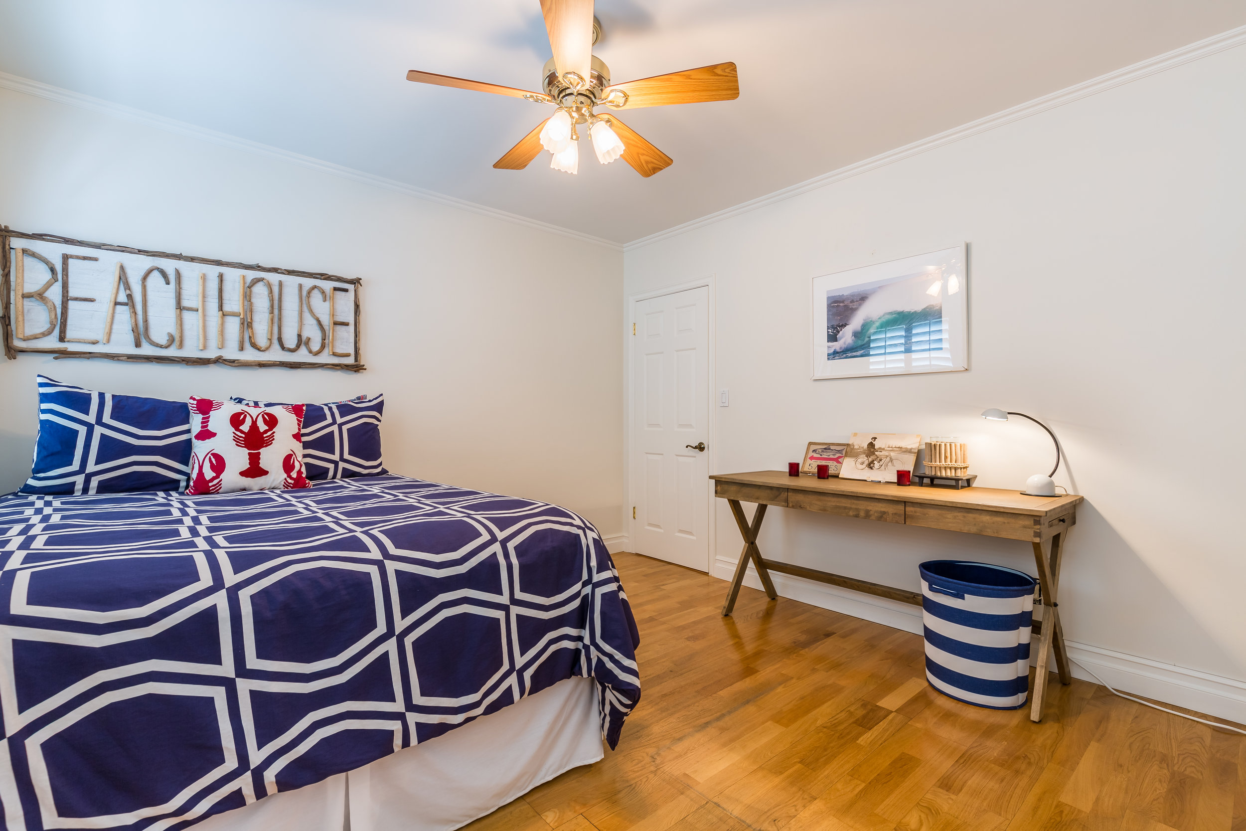 Image: Bedroom of our beach house in Newport Beach.